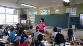 大府市立神田小学校でコミュニケーション授業